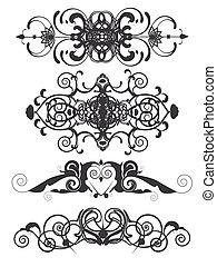 decorative headers set