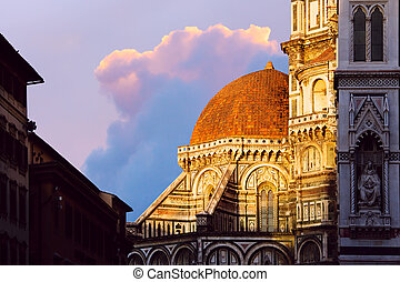 art Italy andmark; Dome in Florence,
