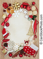 Christmas Abstract Decorative Border - Christmas abstract...
