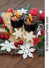 Mulled Wine Still Life - Christmas mulled wine, gingerbread...
