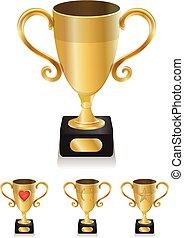 Golden winner trophy