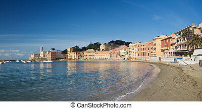 Sestri Levante, panoramic view - Panoramic view of Baia del...