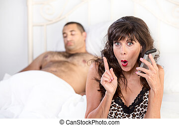 Mature Cougar Makes a Shameful Call after Sexual Conquest -...