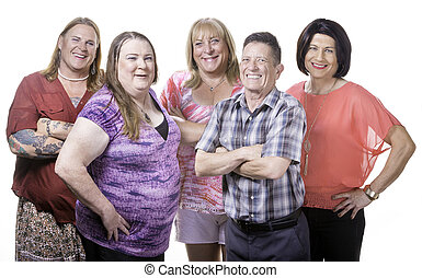 Group Shot of Transgender People - Happy Group of Five...