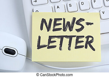 Newsletter subscribing on internet for business marketing...