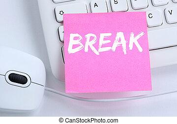 Break work lunch working relax office computer keyboard
