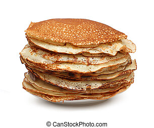 stack of pancakes - russian traditional food