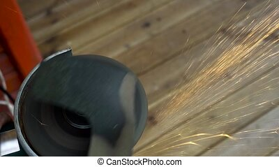 Angle Grinder working and sparkle - Angle Grinder sparkle...