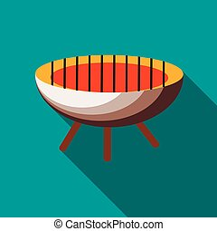 Barbecue icon in flat style