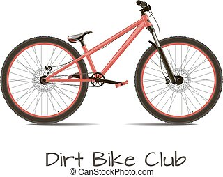 Dirt bike club Bike detached on a white background with the...