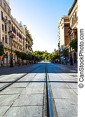 Constitution Avenue in Seville, Spain, Europe