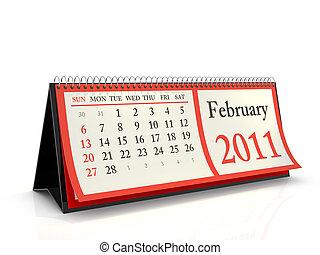 Desktop Calendar 2011 February - High resolution desktop...