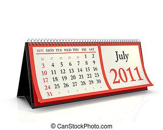 Desktop Calendar 2011 July - High resolution desktop...