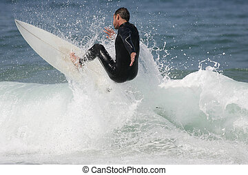 surfing - good surfer in action
