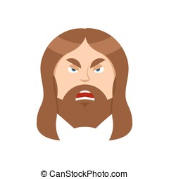 Angry Jesus Christ Unhappy with Son of God Ferocious man