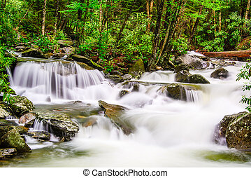 Smoky Mountains Waterfall - cascades in the Smoky Mountains...