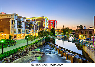 Greenville, South Carolina Skyline - Greenville, South...