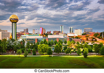 Knoxville, Tennessee Skyline - Knoxville, Tennessee, USA...