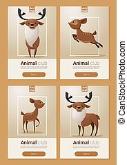 Animal banner with Deers for web design 1