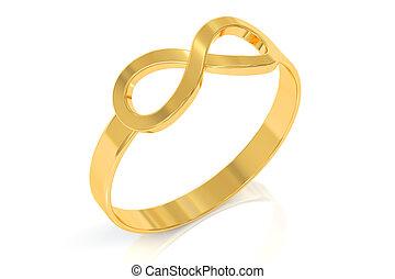 infinity ring, 3D rendering
