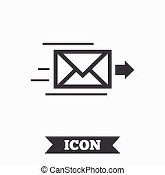 Mail delivery icon Envelope symbol Message - Mail delivery...
