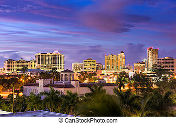 Sarasota Florida Skyline - Sarasota, Florida, USA downtown...