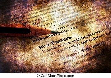 Medical record risk factors