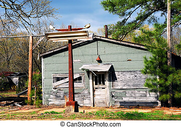 Abandoned Country Store - Abandoned country store sits with...
