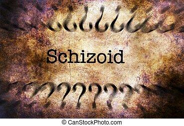 Schizoid disorder grunge concept