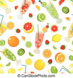 Seamless background with Mojito - Seamless pattern with...