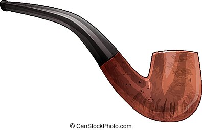 Tobacco pipe. Vector Illustration