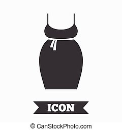 Pregnant woman dress sign icon. Maternity symbol.