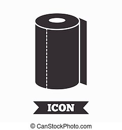 Paper towel sign icon Kitchen roll symbol Graphic design...