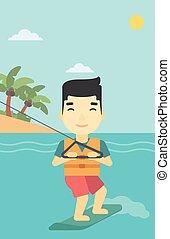 Professional wakeboard sportsman - An asian sportsman...