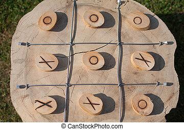 Wooden X-O board