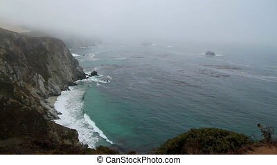Cliff PCH ocean California - Cliff PCH ocean view California