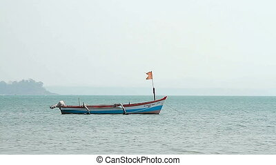 Fishing boat on the Palolem beach
