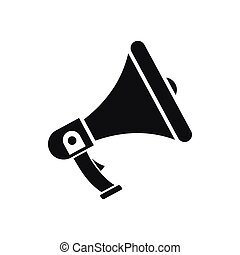 Megaphone icon, simple style