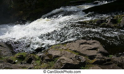 Mountain waterfall in North Karelia.