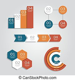 Infographic design templates. Vector illustration. -...