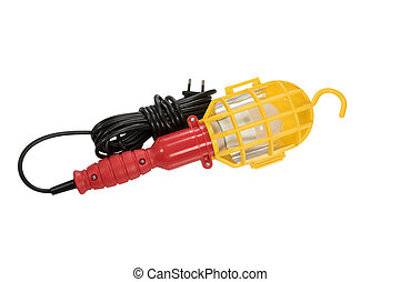 Portable hand lamp - Portable red-yellow light with a lamp...
