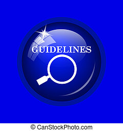 Guidelines icon Internet button on blue background