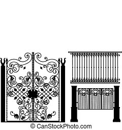 Collection of fences (vector)