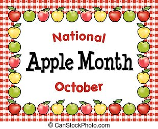 Apple Month, Red Gingham