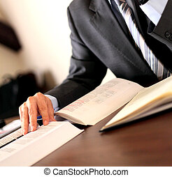 Businessman at desk - manager working in his office