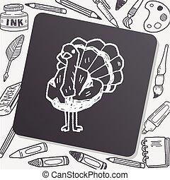 ostrich doodle