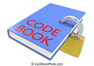 Code Book concept - 3D illustration of CODE BOOK script on a...