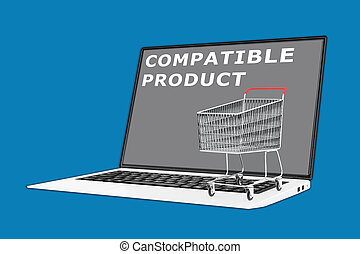 Compatible Product concept - 3D illustration of 'COMPATIBLE...