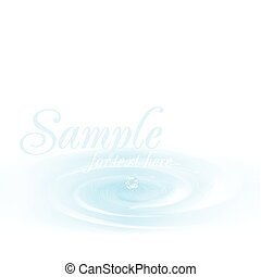 Realistic bubbles on water. Vector illustration.