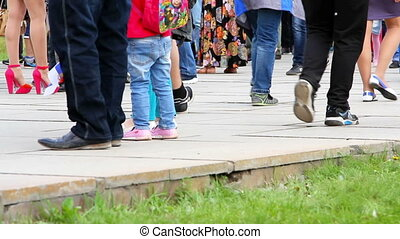 People cross the road - Volgograd, Russsian Federation - 09...